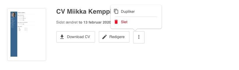 CV account duplicate DK